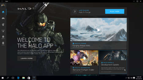 Curated Gaming Apps - The Halo PC App Offers Curated Community and Discovery Features