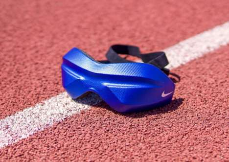 Protective Paralympic Eyewear - This Nike Eyewear is Being Worn By Blind Long Jumper Elexis Gillette