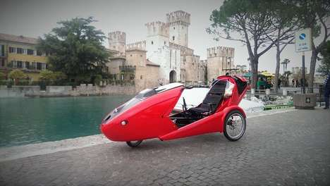 Aerodynamic Convertible Velomobiles - The Cabriovelo Features Folding Sides and Weather Protection