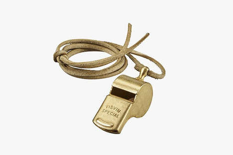 Designer Police Whistles - Visvim's Law Enforcement Whistle Remembers a Late 1800s Model in Style