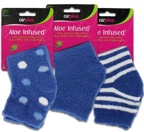 Aloe-Infused Moisturizing Socks - AirPlus' Product Nourishes the Feet with Aloe and Vitamin E