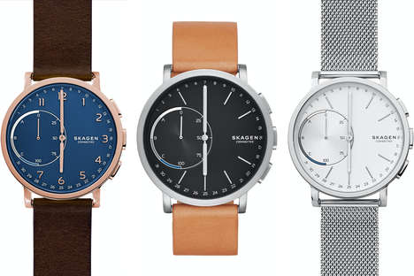 Customizable Hybrid Smartwatches - The Hagen Connected Watch Offers Traditional Timepiece Design