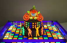 Glowing Cake Designs