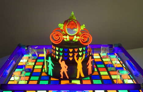 Glowing Cake Designs - These Unique Cakes are Able to Transform in the Dark