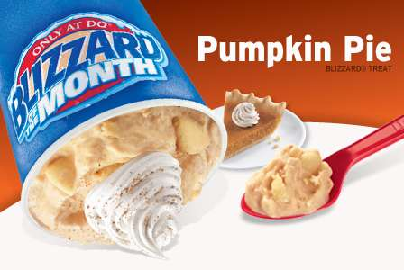 Festive Pie Sundaes - The Fall Dairy Queen Blizzard Takes Inspiration From Pumpkin Pie Dessert