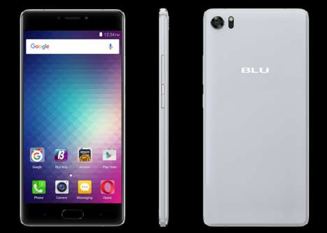 Curved-Screen Smartphones - Blu's New Android Phone Offers 3D Touch Functionality