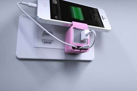 Organizational Charging Sleeves - This Cable Cord Management System Features a Handy Dock Display