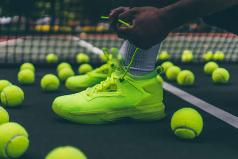 Tennis Ball-Inspired Sneakers - These Neon Yellow Shoes Result from Damian Lillard & adidas' Effort