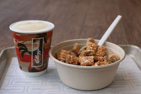 Pumpkin-Flavored Cereal Bowls - Kellogg's is Offering a Pumpkin Spice Latte Bowl at Its Cereal Cafe