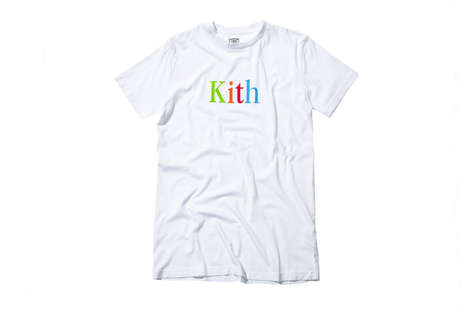 Nostalgically Branded T-Shirts - Kith Payed Tribute to Its Old Logo to Remember Its Past Creations