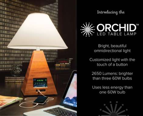 Low-Energy Table Lamps - These Lamps Offer a Unique Touchscreen Interface