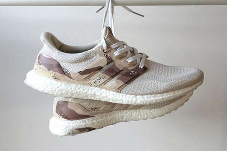 Desert Camoflauge Sneakers - These Custom UltraBOOSTs Were Made with Alexander Johnson's Input