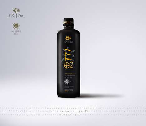 Cultural Olive Oil Branding - This Olive Oil Reflects the History and Language of Its Origins