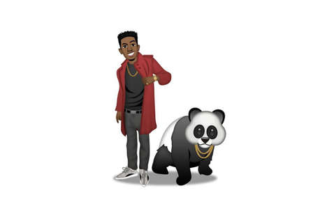 Panda-Paired Rapper Emojis - Desiigner is Set to Be Featured in a Custom Emoji Pack from Moji