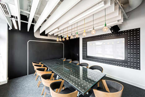 Architectural Icon-Referencing Offices - This Themed Office Space is Modeled After Polish Cityscapes