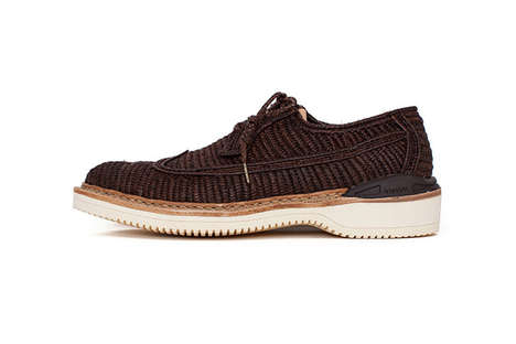 Handwoven Oxford Shoes - These Shoes Combine Rustic Elements into a Contemporary Style