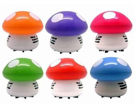 Desk Vacuum Cleaners - This Desk Cleaner Has an Endearing Mushroom Shape