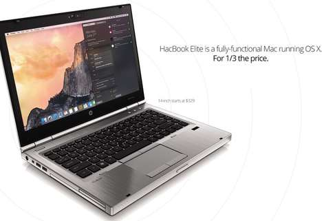 Inexpensive Upgradeable Laptops - The HackBook Elite is an Affordable Laptop that Runs Mac OS X