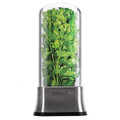 Herb-Preserving Pods - The Prepara Stainless Steel Herb Saver Storage Pod is Economical