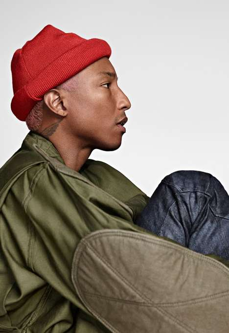 Singer-Starring Denim Editorials - The G-Star Collection's Lookbook Features Its Co-Founder Pharrell