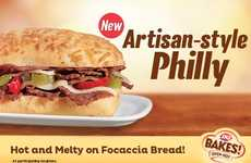 Artisanal Cheesesteak Sandwiches - The New Artisan-Style Philly Sandwich is a Hearty Fast Food Meal