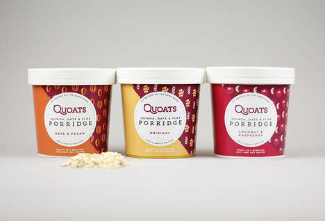 Protein-Rich Cereal Packaging - 'Quoats' Hot Porridge Blends Healthy Ingredients for a Filling Meal
