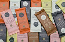 Color-Coordinated Chocolate Packaging - Peyton and Byrne Chocolate Bars Feature Artisanal Flavors