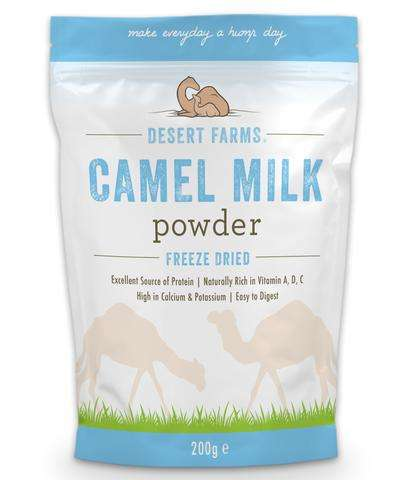 Alternative Powdered Milks - Desert Farms Offers Freeze Dried Camel Dairy to Add to Beverages