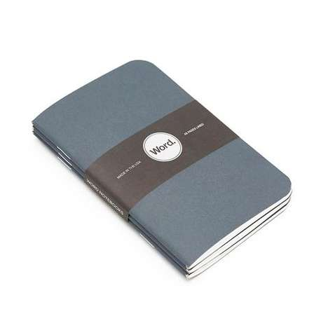 Denim-Patterned Notebooks - These Affordable Writing Books are Modeled After Classic Blue Jeans
