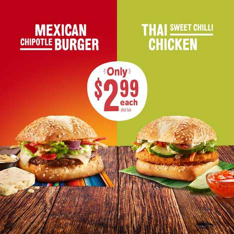 Internationally Inspired Burger Menus - The New McTasters Sandwiches are Inspired by Global Cuisine