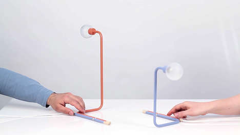Connected Communication Lamps - 'A Play of Dependencies' Is an Light System That Links Coworkers