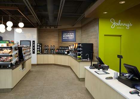 Modern Retail Rebrands - Square One Design Adapted Johnny's Markets with Simplified Displays