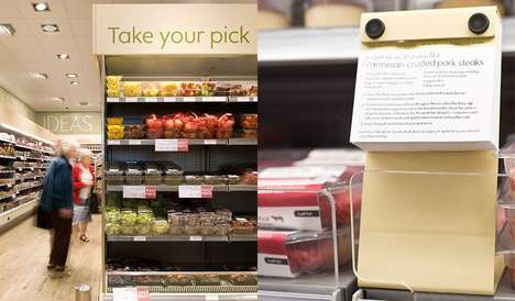 Recipe-Themed Grocery Displays - Waitrose's In-Store Shelving Shares Meal Ideas with Shoppers