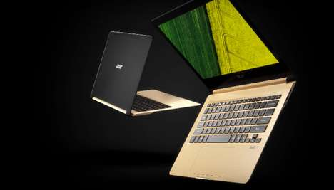 Durable Razor-Thin Laptops - The Acer Swift 7 Laptop PC is Under a Centimeter in Thickness