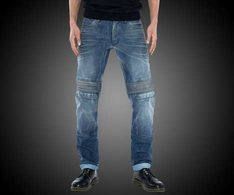 Protective Kevlar Jeans - The Pando Moto Karl Desert Motorcycle Jeans Protect Against Injury
