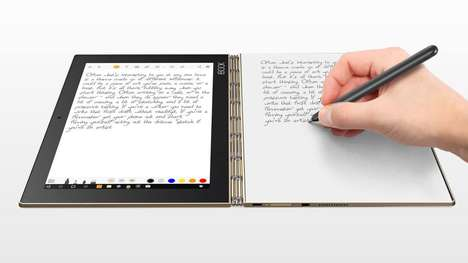 The Lenovo Yoga Book Tablet Computer Combines Multiple Devices