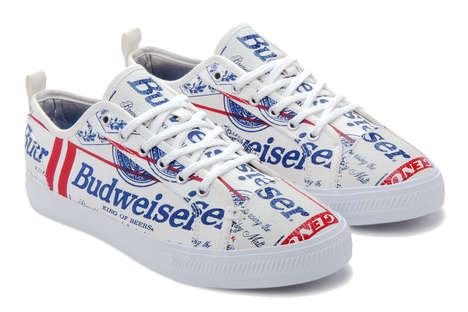 Beer-Branded Sneakers - Budweiser and ALIFE Created These Promotional Limited-Edition Sneakers