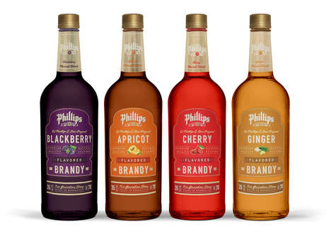Flavored Brandy Collections - This Brandy Labeling Reflects the Bottles' Contents