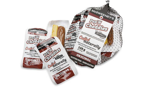 Cheese-Paired Sausage Snacks - McSweeney's New Pep' N Cheddies Serve as a Balanced Snack Option