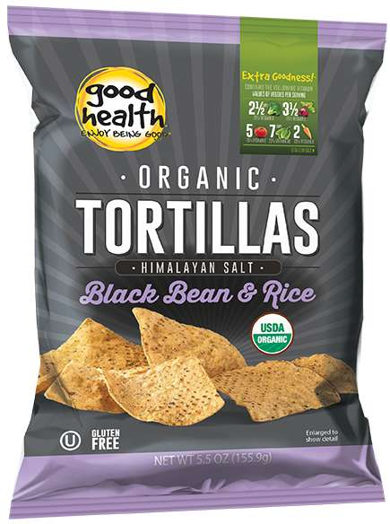 Rice Flour Tortilla Chips - The Organic Black Bean & Rice Tortillas Serve as a Healthy Chip Option