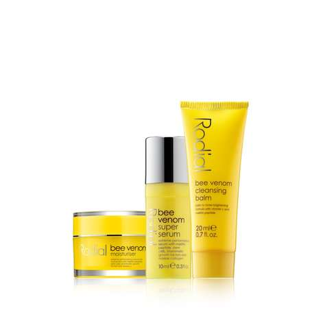 Bee Venom Cosmetics - Rodial Uses Bee Venom as an Ingredient in a Cleanser, Serum and Moisturizer