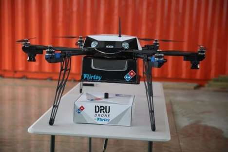 Pizza Delivery Drones - Domino's is Experimenting with a 3D-Printed Drone Delivery Service