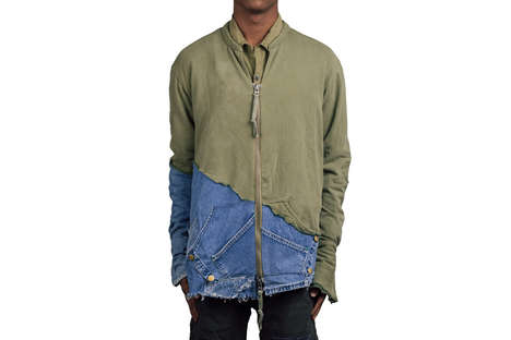 Distressed Patchwork Apparel - Greg Lauren's Unique Menswear Line Combines a Variety of Materials