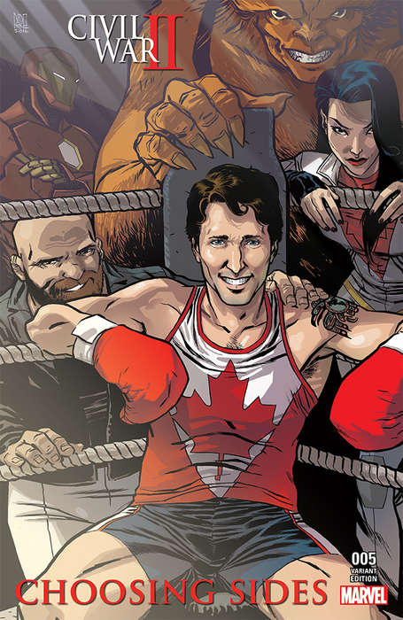 Political Comic Covers - This Marvel Comic Cover Features Canada's Prime Minister