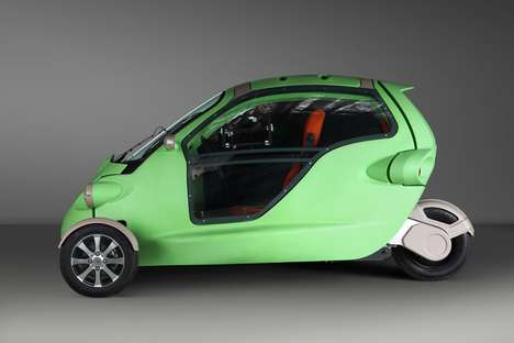 Bug-Shaped Electric Cars - This Three-Wheeled Electric Car is Powered By Lithium-Polymer Batteries