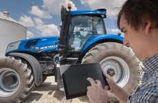 Self-Driving Tractors - The NH Drive Tractor's Movements Can Be Controlled Through a Mobile App
