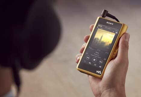 Premium Audiophile MP3 Players - The Sony Walkman NW-WM1Z Portable MP3 Player is Sophisticated