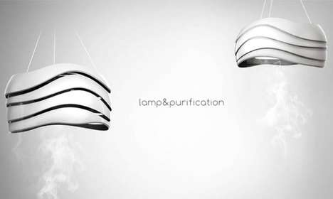 Air-Purifying Pendant Lights - The Comfort Cloud Light Provides Illumination and Air Cleaning