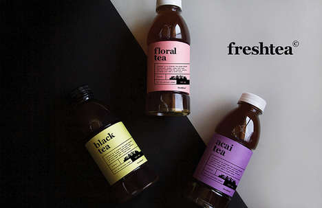 Prepackaged Cold Tea Beverages - 'freshtea' is Brewed Using Forest Park Water for Purity