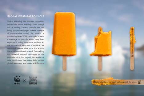 Environmental Awareness Popsicles - This Global Warming Awareness Concept Uses Melting Food